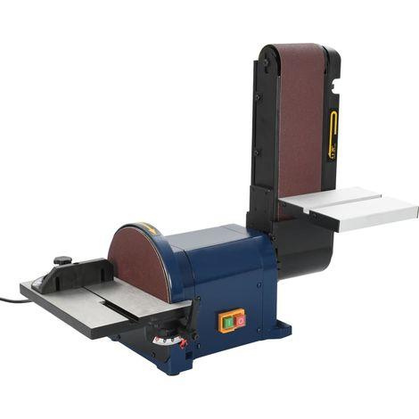 Ponceuse a disque et a bande electrique 550 W 200 mm
