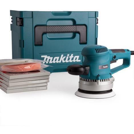 Ponceuse excentrique 150 mm 310 W avec 53 accessoires et coffret Makpac - MAKITA BO6030JX1