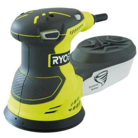 Ponceuse excentrique électrique RYOBI 300W 125mm - sac de transport - ROS300A