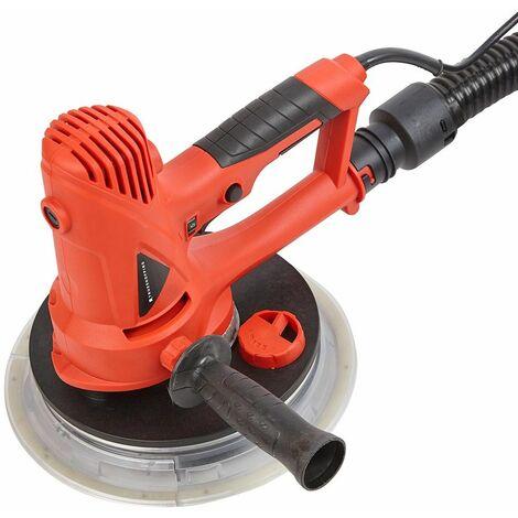 Ponceuse Main 700W Cloison Sèche Extracteur poussière Vitesse Variable 6 disques - Rouge, Noir