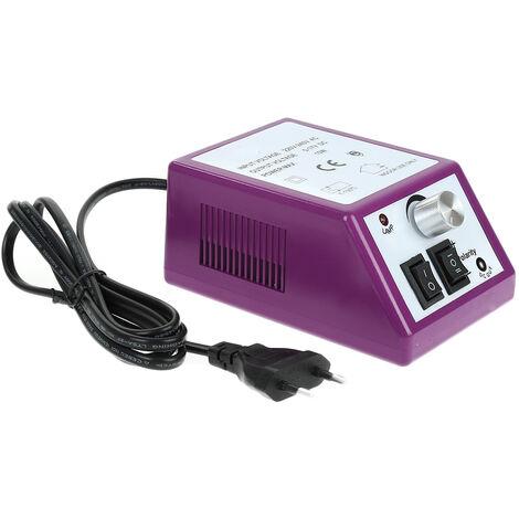 Ponceuse Ongle électrique Manucure & Pédicure Outil Violet Kit Machine à Ongles 0 à 20.000 tours-minute - Violet