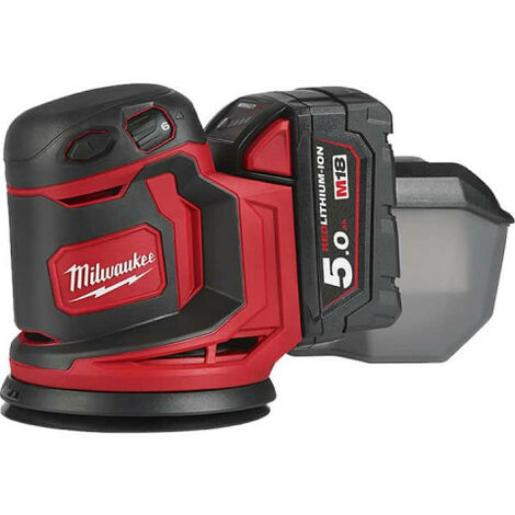 Ponceuse orbitale excentrique MILWAUKEE M18 BOS125 - 125mm - 2 batteries 5.0 Ah - 1 chargeur - 4933464229
