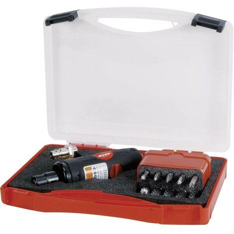 Ponceuse pneumatique RUKO 116100 1/4 (6,3 mm) 6.2 bar + accessoires, + mallette 1 pc(s)