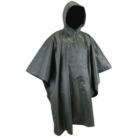 Poncho de pluie LMA Climat Kaki Foncé Unique