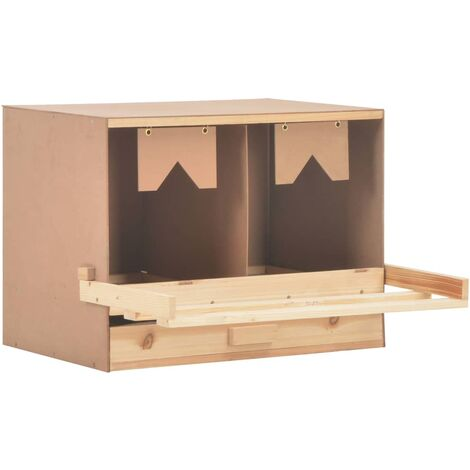 Pondoir 2 compartiments 63x40x45 cm Pinède solide