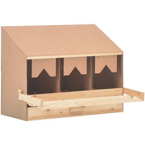 Pondoir 3 compartiments 72x33x54 cm Pinède solide