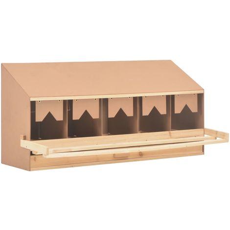Pondoir 5 compartiments 117x33x54 cm Pinede solide