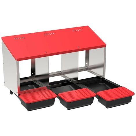 Pondoir collecteur d'oeufs en plastique 3 compartiments