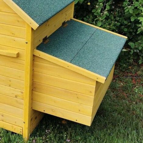 Pondoir supplémentaire pour poulailler Bassette XL toit vert