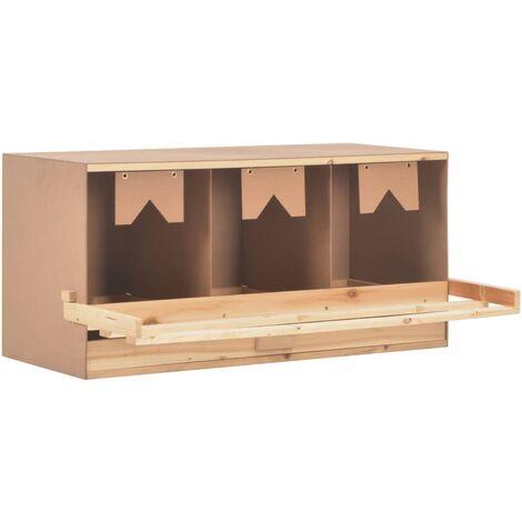 Ponedero para gallinas 3 compartimentos madera pino 96x40x45 cm