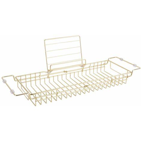 Pont de baignoire design métal Iglo - L. 61/86 cm - Doré - Or