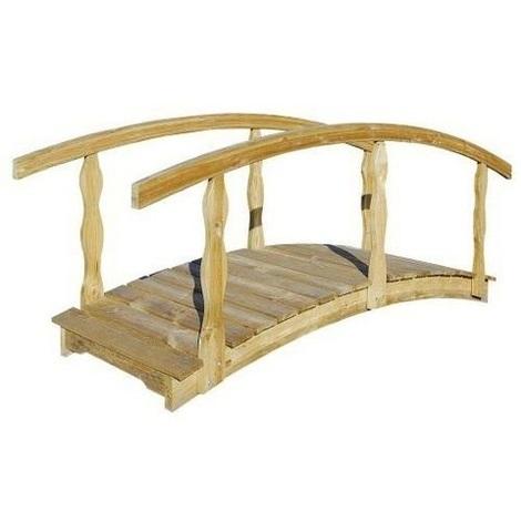 Pont de jardin en bois Québec grand modèle