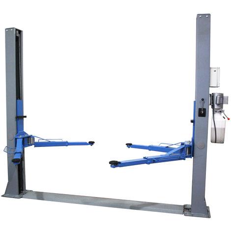 Pont élévateur à deux colonnes - Déverrouillage semi-automatique des bras - Capacité 4 Tonnes TopCar P2C4MS