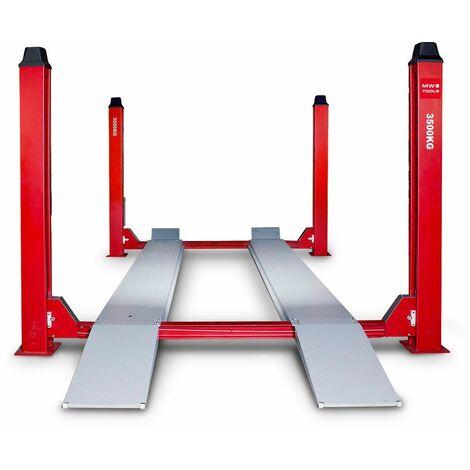 Pont élévateur hydraulique 4 colonnes 3,5 t 3x380V MW-Tools HB435