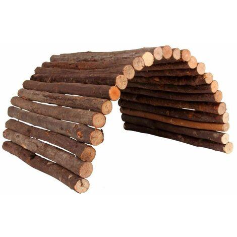 Pont, flexible, lapin, en bois d'écorce - 65 × 40 cm