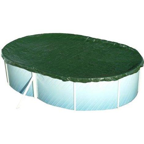 Pool Abdeckung Achtform/Oval 530x320 - 540x350cm