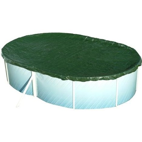 Pool Abdeckung oval 800x400cm