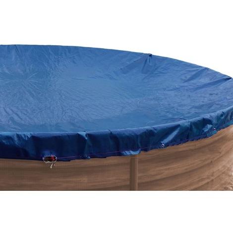 Pool Abdeckung Premium rund 350-366cm