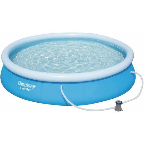 Pool BESTWAY Fast Set 366 cm x 76 cm mit Pumpe Planschbecken