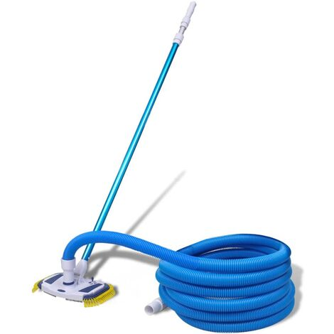 Pool Cleaning Tool Vacuum with Telescopic Pole and Hose - Blue
