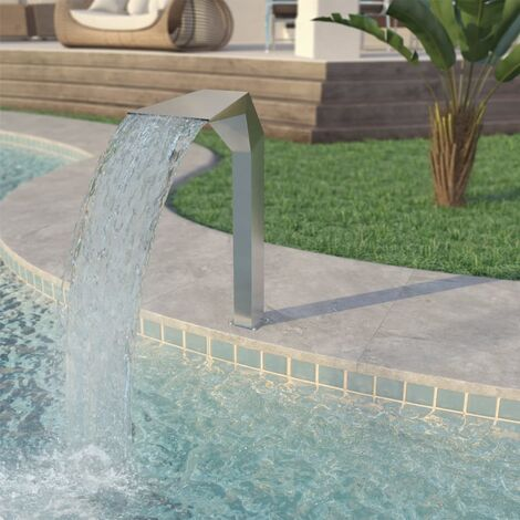 Pool Fountain Stainless Steel 50x30x90 cm Silver - Silver