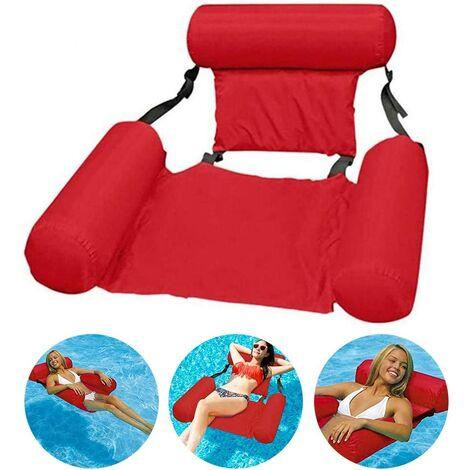 Pool Hammock Reclining Armchair Floating Pool Inflatable Chair Floating Water Floating Water Hammock Floating Adult Floating Pool - Red (100x200cm)