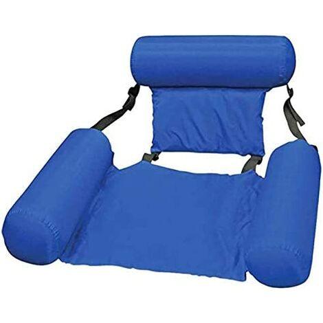 Pool Hammock Reclining Armchair Floating Pool Inflatable Chair Floating Water Floating Water Hammock Floating Tilt for Adult - Blue (100x200cm)
