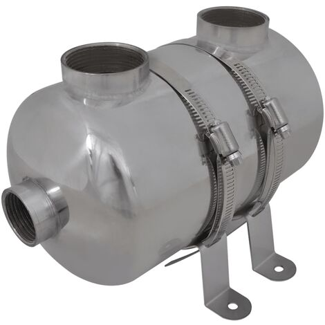 "main image of ""vidaXL Pool Heat Exchanger Durable Spa Sauna Boiler Heater Machine Multi Sizes"""