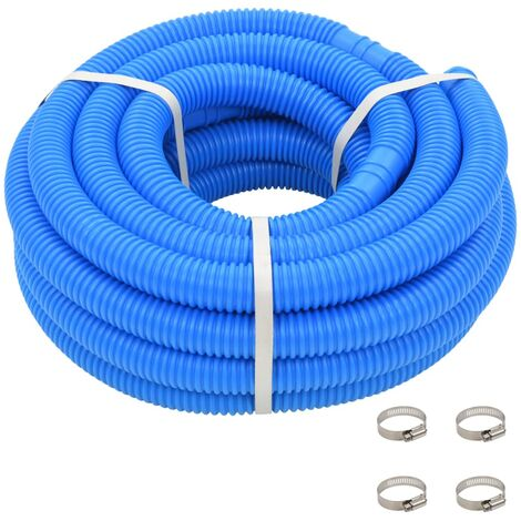 Pool Hose with Clamps Blue 38 mm12 m