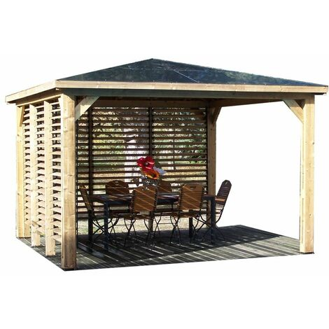 Pool House Blueterm - 2 parois avec ventelles mobiles orientables