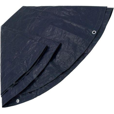 Pool-Plane rund Ø 5,2 m PE-Kunststoff 150 g/m² blau Winter-Abdeckung für runde Swimming-Pools Schwimm-Becken Abdeckplane