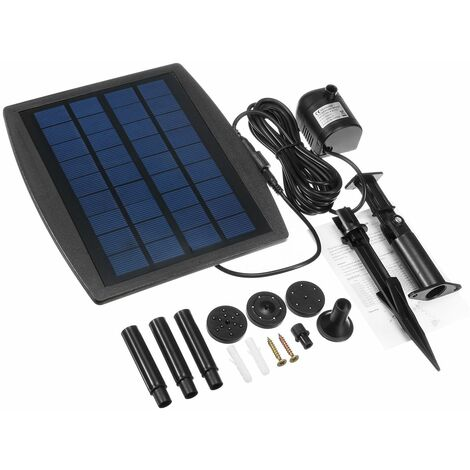 Pool Pump Fountain Kit Feature 2.5W 200L / H Garden Pond Solar Panel Water WASHED