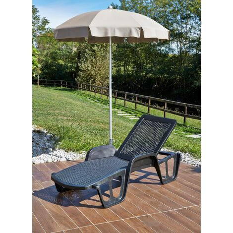 Pool rattan resin loungers Dimensions 192x71xH100 cm, STACKABLE