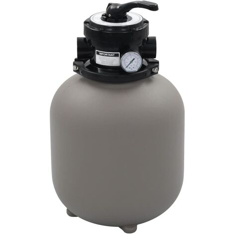 Pool Sand Filter with 4 Position Valve Grey 350 mm