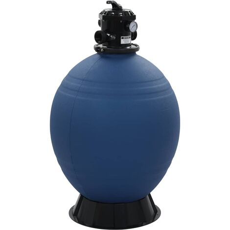 Pool Sand Filter with 6 Position Valve Blue 660 mm