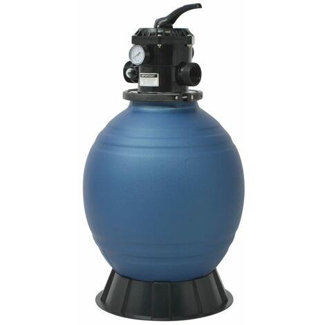 Pool-Sandfilter mit 6-Wege-Ventil Filterkessel Blau 460 mm