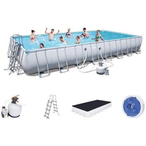 Pool Schwimmbad Bestway 56623 rechteckig 956x488x132cm Stahlstruktur