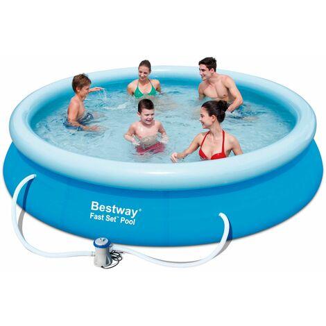 Pool Set 366x76cm Swimmingpool Garten Baden Planschbecken