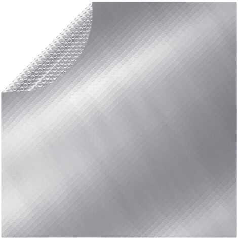 Poolabdeckung Silbern 488 cm PE
