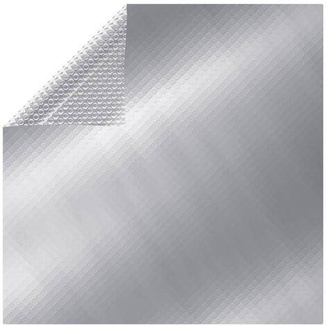 Poolabdeckung Silbern 488x244 cm PE