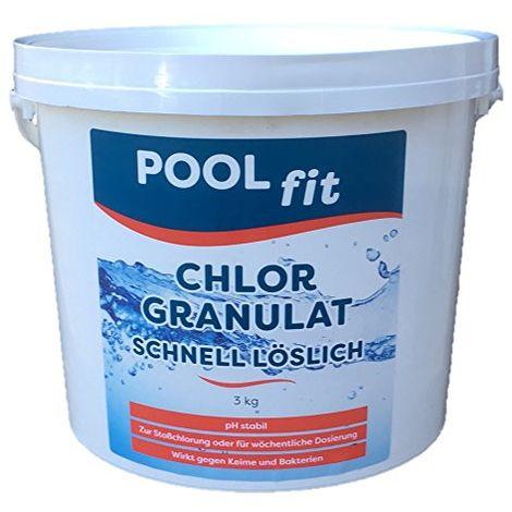 PoolFit - Chlorgranulat - schnell löslich - 3KG