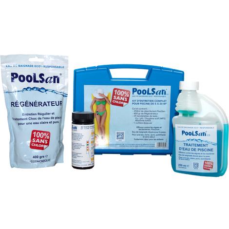 Kit d'entretien complet pour Piscines MINI 100% sans chlore - Traitement d'eau Eco*-Responsable (*Economique)