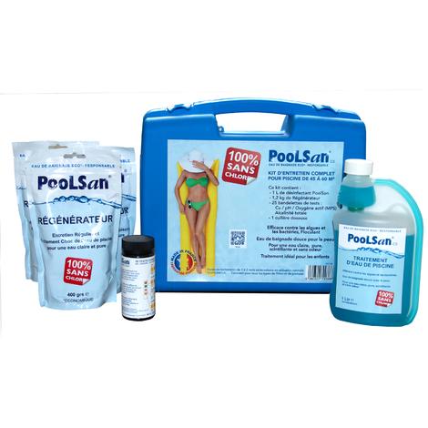 Poolsan kit d'entretien complet pour piscines 100% sans chlore
