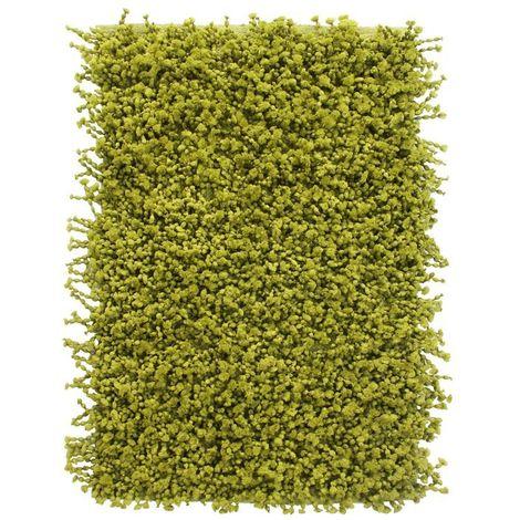 POP CORN - <p>Tapis effet popcorn extra-doux vert 85x55</p> - Vert