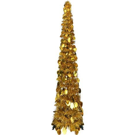 Pop-up Artificial Christmas Tree Gold 120 cm PET