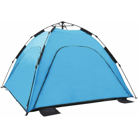 Pop Up Beach Tent 220x220x160 cm Blue
