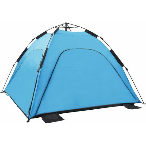 Pop Up Beach Tent 220x220x160 cm Blue
