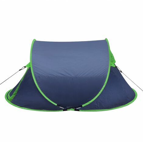 Pop-up Camping Tent 2 Persons Navy Blue / Green QAH32107