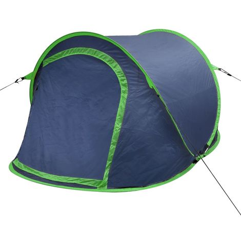 Pop-up Camping Tent 2 Persons Navy Blue / Green VD32107