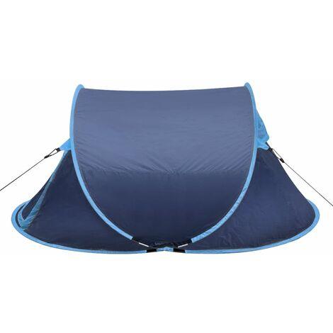 Pop-up Camping Tent 2 Persons Navy Blue / Light Blue QAH32106